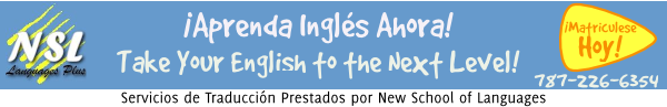Servicios de Traduccion prestados por la New School of Languages