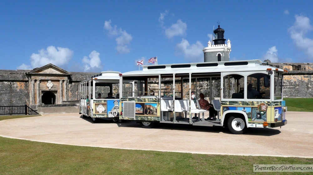 Hop Aboard the Free Trolley in Old San Juan Puerto Rico Day
