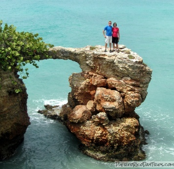 Cliffs, Natural Bridge, Arches near Cabo Rojo Lighthouse