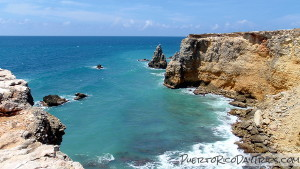 Limestone Cliffs Near Cabo Rojo Los Morillos Lighthouse