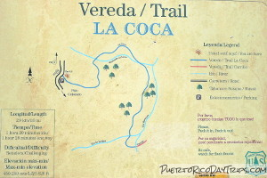 La Coca Trail map