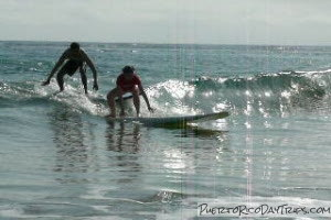 Surfing Lesson at Playa Azul in Luquillo