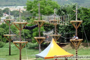 Rope Course at Moisty Skate Park in Caguas