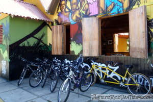 Bikes for rent at COPI in Pinones