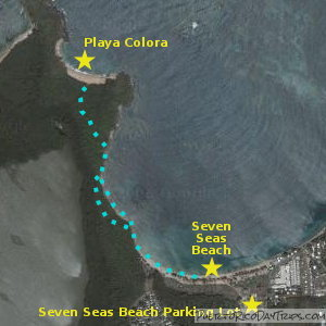 Trail to Playa Colora in Fajardo