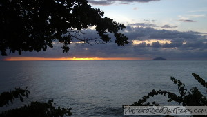 Rincon Sunset and Desecheo Island