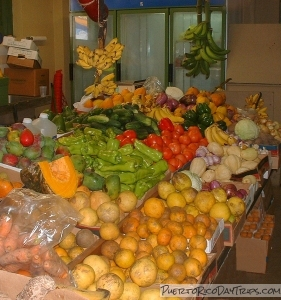 Fruit stand in Santurce Market