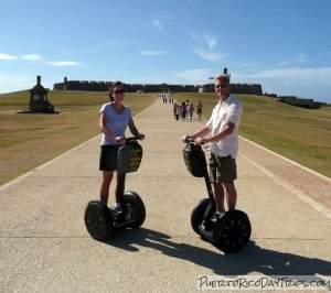 On our Segways in front of El Morro
