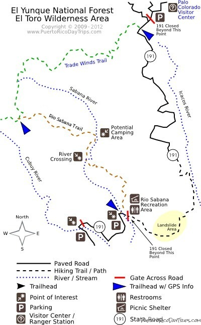 Rio Sabana Trail Map