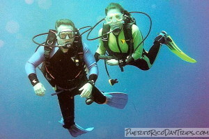 Our Friends SCUBA Diving with Nan-Sea Charters in Vieques