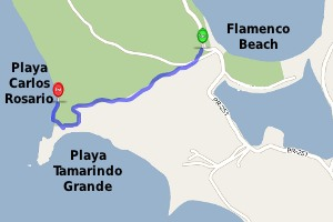Playa Carlos Rosario Map