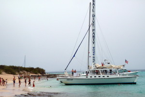 The Fun Cat Anchored at Icacos