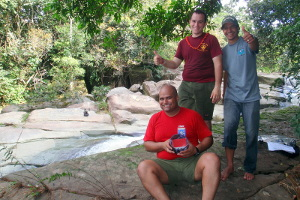 Armando, Anibal and Daniel Geocaching at Paylas
