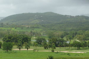 Golf Course with El Yunque in the Background