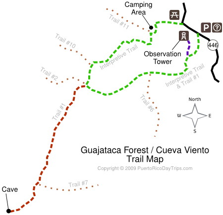 Guajataca Forest/Cave Trail Map