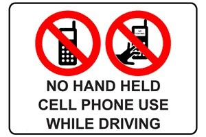 No Handheld Mobile Use While Driving