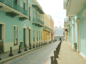 Colorful streets of Old San Juan