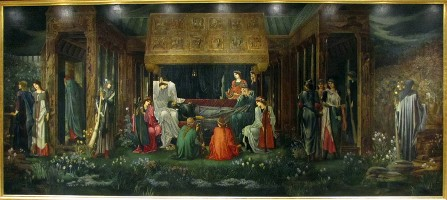 The Sleep of King Arthur in Avalon by Sir Edward Coley Burne-Jones