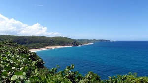 Coastline in Quebradillas