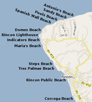 Rincon Beaches Map