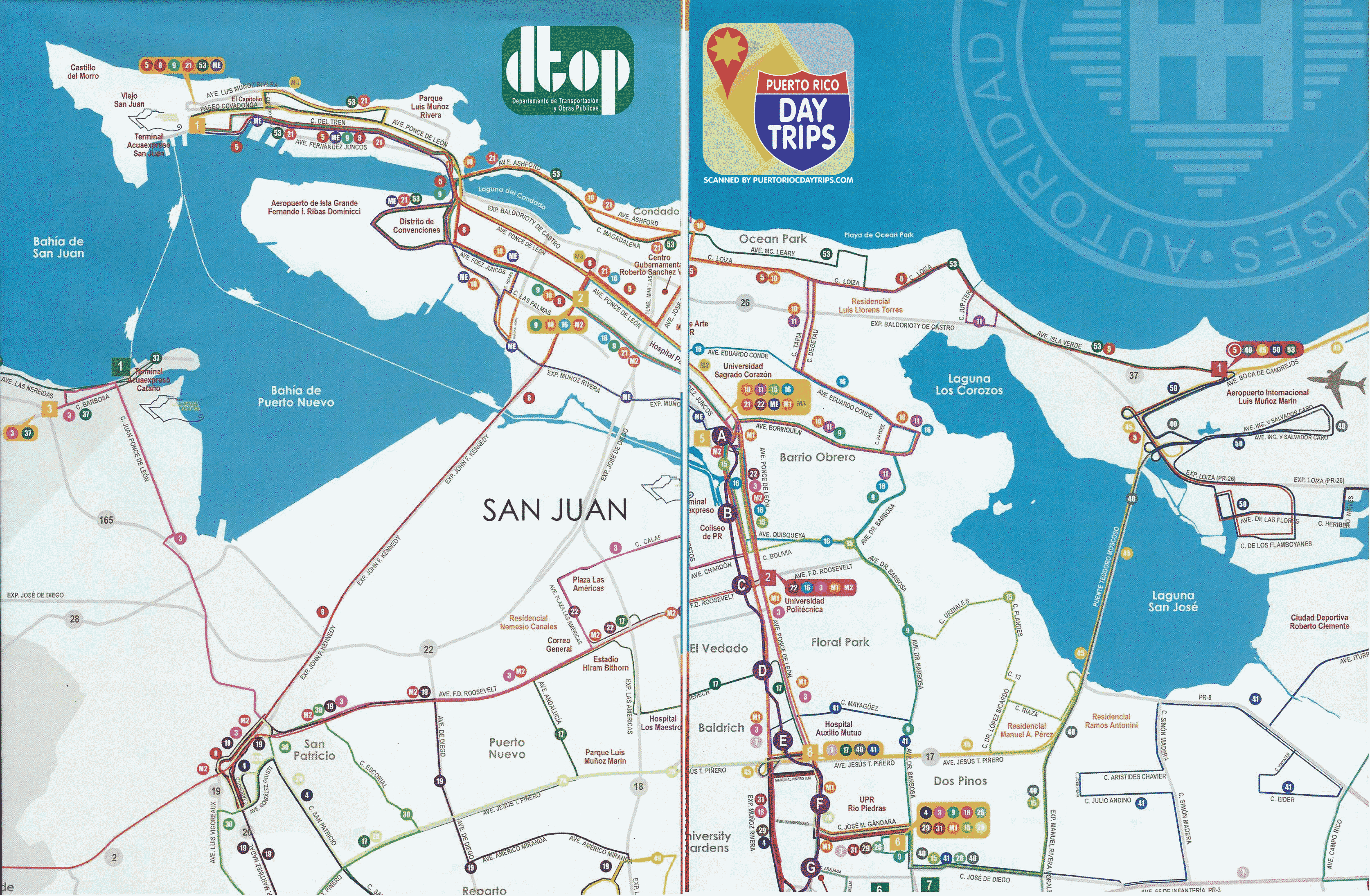 Public transportation BioTopics UPRRP – Tourist Map Of San Juan Puerto Rico